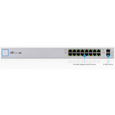 UBIQUITI POE+ 16-PORT GIGABIT SWITCH SFP
