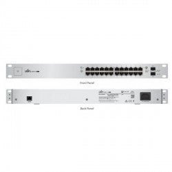 Ubiquiti UniFi Switch US-24-500W - Switch - Managed - 24 x 10/100/1000 (PoE+) + 2 x Gigabit SFP - rack-mountable - PoE+
