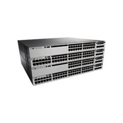 Cisco Catalyst 3850-24P-S - Switch - L3 - Managed - 24 x 10/100/1000 (PoE+) - desktop, rack-mountable - PoE+ (435 W)