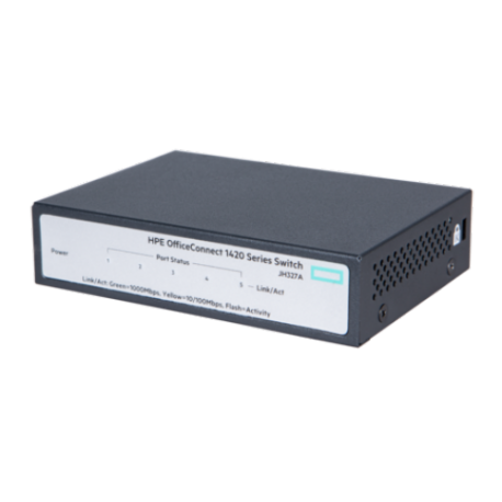 HPE OfficeConnect 1420 5G Switch Unmanaged 5 x RJ45 autosensing 10/100/1000 Limited Lifetime Warranty