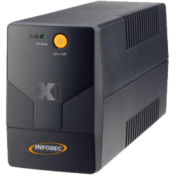 Infosec X1 EX 1000 – 1000 VA UPS - Line Interactive - No communication port - 1 Led front pannel - Black Design - GE Type