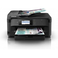 Epson WorkForce WF-7710DWF, Inkjet Printers, A3+, 4 Ink Cartridges, KCYM, Print, Scan, Copy, Fax, Yes (A4/A3, plain paper), Touc