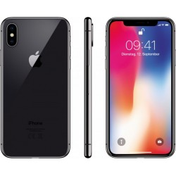 "Apple iPhone X - Smartphone - 4G LTE Advanced - 64 GB - GSM - 5.8"" - 2436 x 1125 pixels (458 ppi) - Super Retina HD - 12 MP (7 M"