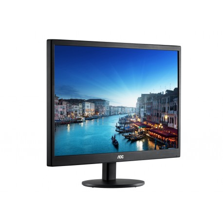 "Monitor 19.5"" AOC E2070SWN, HD+, TN , 16:9, WLED, 5 ms, 200 cd/m2, 90/50, 20M:1, VGA, VESA, Kensington lock, Black"