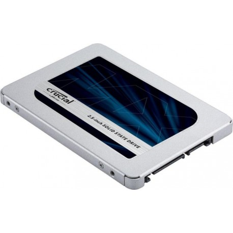 "CRUCIAL MX500 500GB SSD, 2.5"" 7mm (with 9.5mm adapter), SATA 6 Gbit/s, Read/Write: 560 MB/s / 510 MB/s, Random Read/Write IOPS 9"