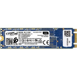 CRUCIAL MX500 250GB SSD, M.2 Type 2280SS, SATA 6 Gbit/s, Read/Write: 560 MB/s / 510 MB/s, Random Read/Write IOPS 95K/90K