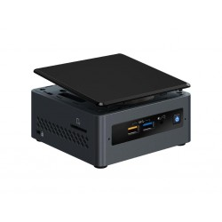 "Intel NUC kit, Pentium J5005 1.5 GHz - 2.8 GHz, 2x slot DDR4 SODIMM (max 8GB), 2.5"" SATA SSD/HDD + side SDXC UHS-I slot, Wireles"
