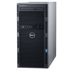 Server Dell PowerEdge T130 - Tower - Intel Xeon E3-1220v6 4C/4T 3.0GHz, 4GB (1x4GB) DDR4-2400 UDIMM, DVD+/-RW SATA, 1TB 7.2K SAT