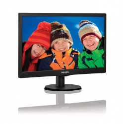 Monitor 18.5 PHILIPS 193V5LSB2 FWXGA 1366 768 TN 16:9 WLED 5 ms 200 cd/m2 90/65 10M:1/ 700:1 D-SUB VESA Black