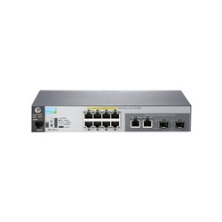 HP 2530-8G-PoE+ Switch Managed 8 x RJ45 autosensing 10/100/1000 POE+ ports 2 x dual personality RJ45 10/100/1000 or open mini-GB