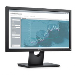 Monitor LED DELL E-series E1916H 18.5'', 1366x768, 16:9, TN, 600:1, 65/90, 5ms, 200 cd/m2, VESA, VGA, DisplayPort, Black