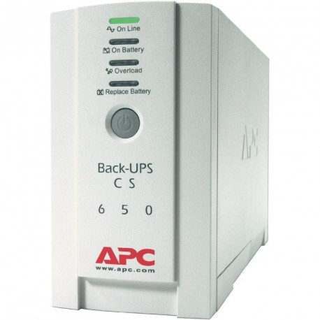 APC Back-UPS CS, 650VA/400W, stand-by, 230, 2yw