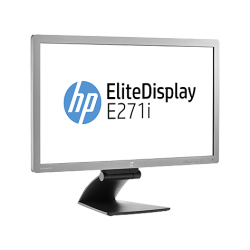 HP EliteDisplay E271i, IPS w/LED backlight, 1920 x 1080, 250 cd/m2, 1000:1, 178°/178°, 1xVGA, 1xDVI-D, 1xDisplayPort, Tilt, Swiv