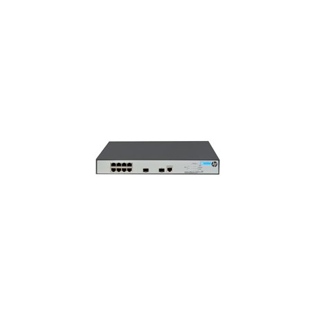 HPE 1920-8G-PoE+ - Switch - L3 - Managed - 8 x 10/100/1000 (8 PoE+) + 2 x Gigabit SFP - rack-mountable - PoE+ (180 W)